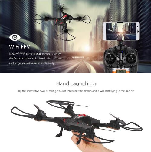 Wifi FPV RC font b Drone b font TK110HW with 720P HD Camera Folding RC Quadcopter