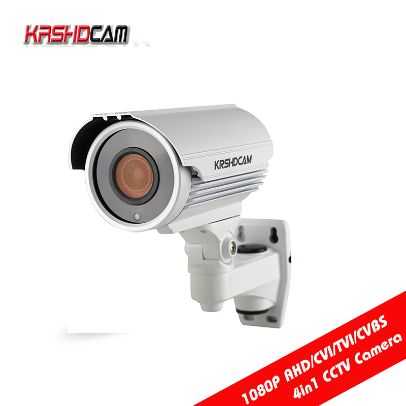 KRSHDCAM FULL HD 1080P AHD-H Camera CVI/TVI/CVBS 4IN 1 3000TVL 2.8-12mm zoom outdoor waterproof IP66Night Vision security cctv hd ahd cvi tvi cvbs bullet camera with alarm speaker waterproof ip67 hd 1080p 4 in 1 security camera outdoor night vision ir 20m