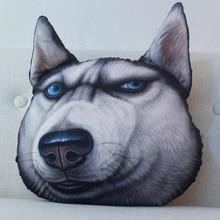 Doge cartoon cute cushion 3d printed plush toys creative gift car Pillow Husky Home  decoration Accessories