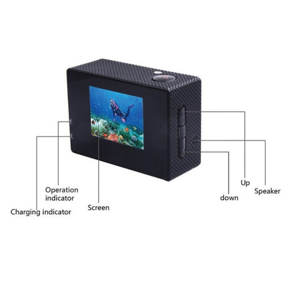 lowest price Outdoor Sport Action Mini Underwater Camera Waterproof Cam Screen Color Water Resistant Video Surveillance For Water Cameras