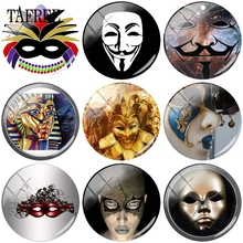 TAFREE Mystery Mask Picture Beads 12mm -20mm Glass Cabochon Dome Cameo Pendant Settings DIY Jewelry Findings & Components