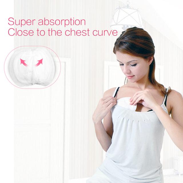 GL 100Pcs Cotton Disposable Nursing Pads Breast Pads Breastfeeding Disposable liners for Nursing Anti-overflow Bra Maternity