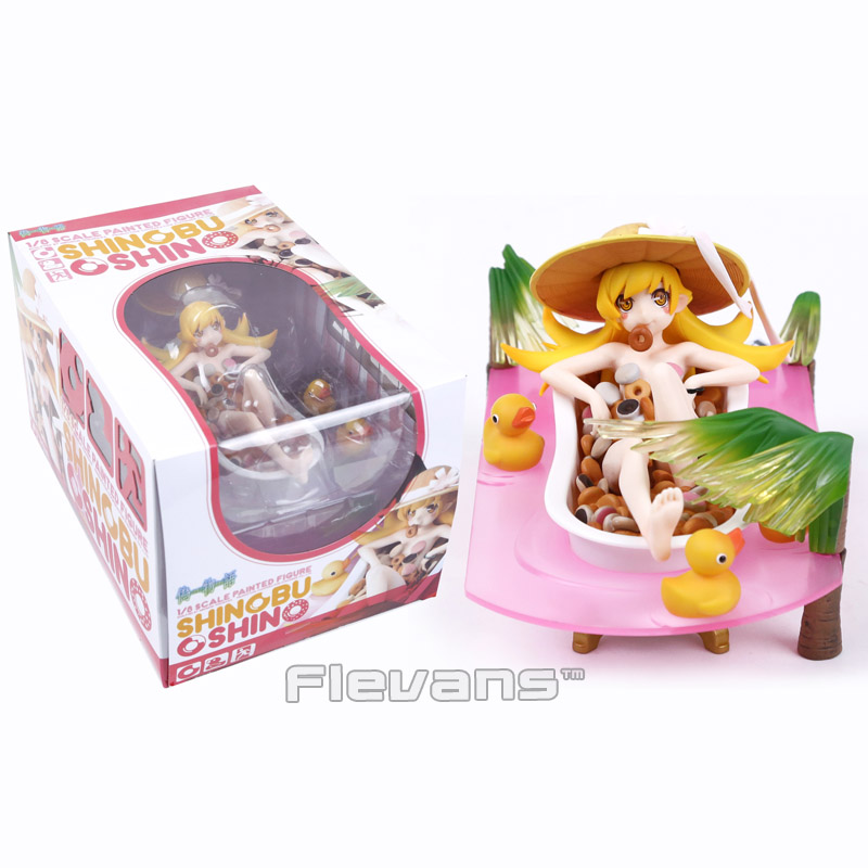 где купить Nisemonogatari Oshino Shinobu Donut Bathtub 1/8 Scale Figure Collectible Model Toy по лучшей цене