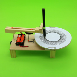 DIY Electric Plotter Drawing Robot Kit Physics Scientific Experiment Set Creative Inventions Assemble Model Toy Kids