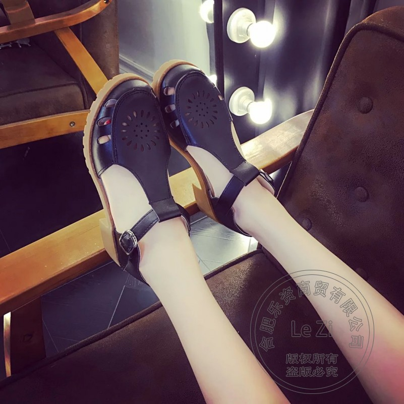 Brand Shoes font b Woman b font Pu OL Soft Leather Daily British Style Round Toe