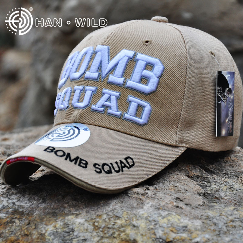 [Reject Fakes] Genuine HANWILD BOMB SQUAD Baseball Caps Army Tactical Hat For Man Woman Letter Embroidery Baseball Cap Police