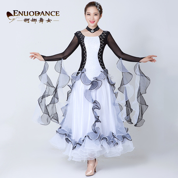 2018 New Ballroom dance costumes sexy spandex ballroom dance dress for women ballroom dance competition dresses