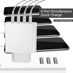 Image 5 - GUSGU אוניברסלי USB מטען 4 יציאות עבור טלפון נייד מהיר נסיעות מטען קיר 5 v עבור iPhone סמסונג Xiaomi iPad tablet