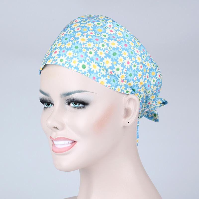 2019 Sunflower Three Color Doctor Surgical Scrub Cap For Women ... d8656928b39e