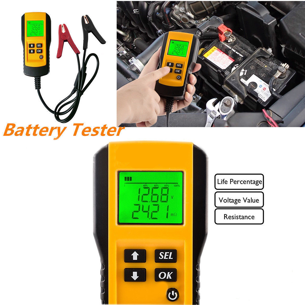 12v digital automotive car vehivcle battery tester for cold temperature battery load charging. Black Bedroom Furniture Sets. Home Design Ideas