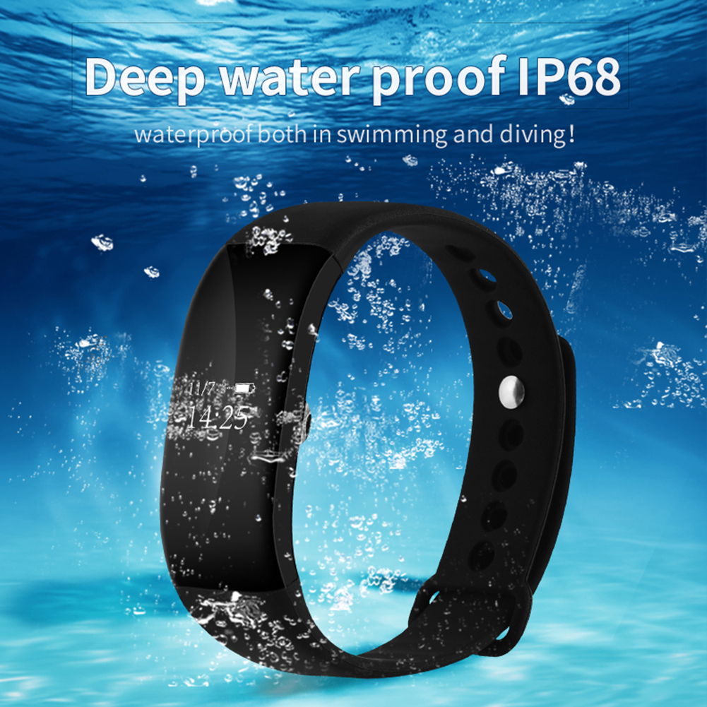 LED Touch Screen V66 Bluetooth Smart Band For Apple IOS Android OLED Screen Bluetooth 4 0
