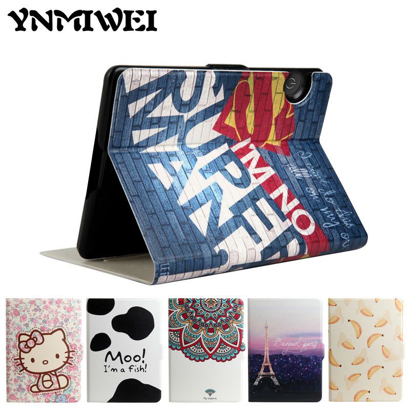 For Amazon Kindle Voyage e-Book 6'' Leather Case Print Slim Smart Ebook Cover For Amazon Kindle Voyage E-reader Protective Stand электронная книга viewsonic ebook reader 6 veb620 black