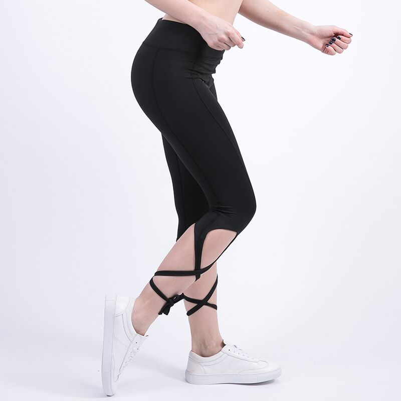 Women Ballerina Yoga Pants Sport Leggings High Waist Fitness Cross Yoga Ballet Dance Tight Bandage Cropped Pants Sports J008