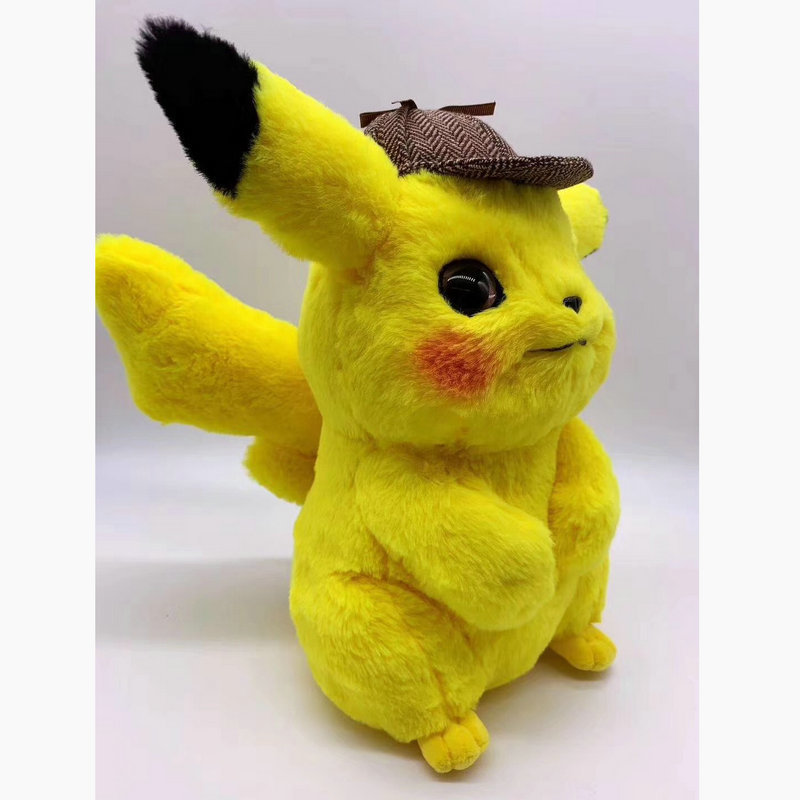 Pikachu Detective knuffel Japan Anime Poppen Soft Toys Game Figuur pop speelgoed voor Jongen Hoed Pikachu Verjaardag gift in Stuffed Plush Animals from Toys Hobbies