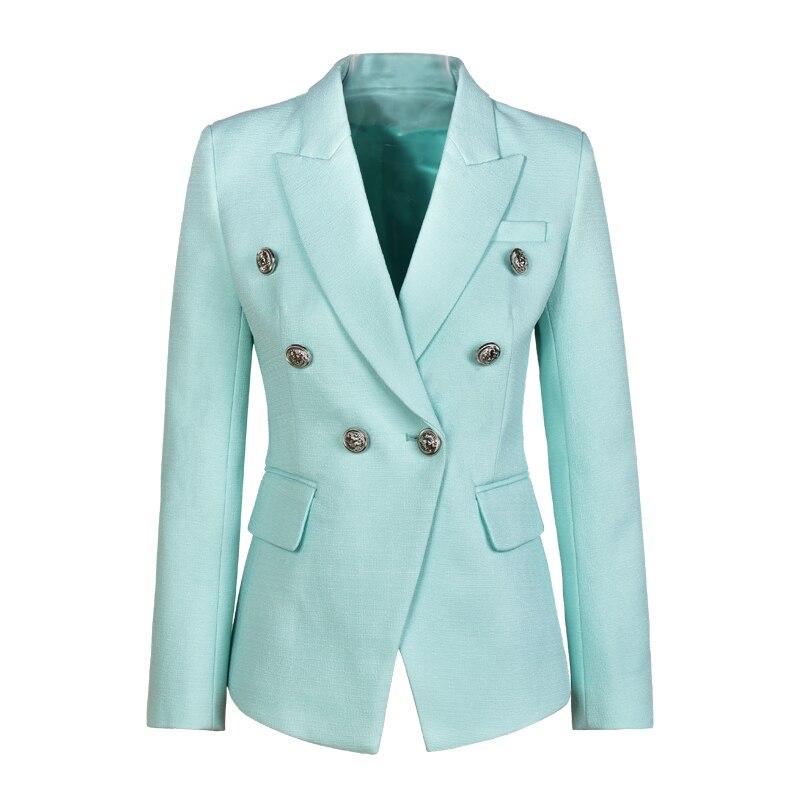 Unique Design Elegant Women Size S XXL Solid Color Black White Mint Slim OL Formal Blazer