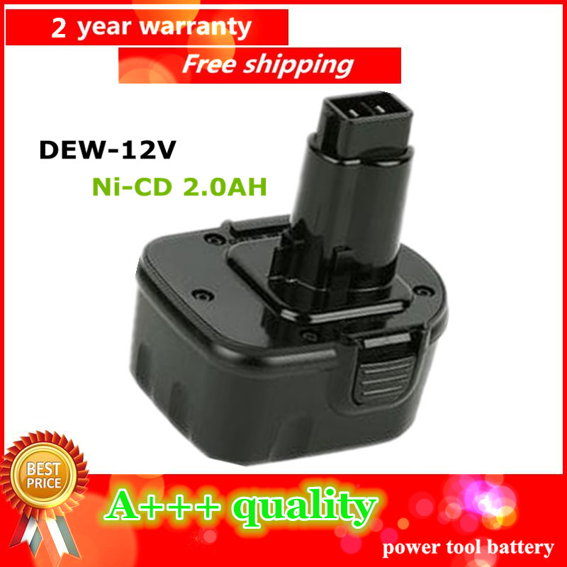 Ni CD 2 0Ah Replacement Power Tool Battery For Dewalt 12V 2000mah DE9074 DC9071 DE9037 DE9071