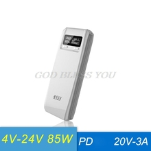 (Sem bateria) QD188 PD duplo usb qc 3.0 + tipo c pd dc saída 8x18650 baterias diy caixa de banco de potência caso titular carregador rápido