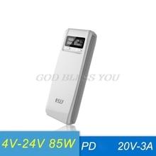(Senza Batteria) QD188 PD Dual USB di CONTROLLO di qualità 3.0 a + di Tipo C PD DC di Uscita 8x18650 Batterie FAI DA TE Cassa del Supporto contenitore di Accumulatori e caricabatterie di riserva fast Charger