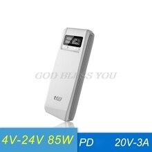 (Sin batería) QD188 PD USB Dual QC 3,0 + tipo C PD salida DC 8x18650 baterías DIY Power Bank Box funda, soporte cargador rápido