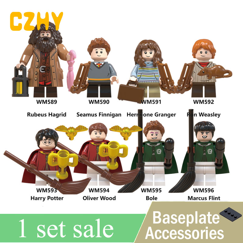 Set sale Harry Series Potters Mad Eyes Moody Lord Voldemort Ron Ginny Weasley Hagrid Hermione Building Gifts Toys Legoe WM6045 candino часы candino c4468 2 коллекция elegance