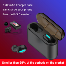 2019 Беспроводной наушники V5.0 Bluetooth мини наушники для iPhone/samsung/HUAWEI-слуховых аппаратов Мощность банк стерео Бас Дешевые Новые