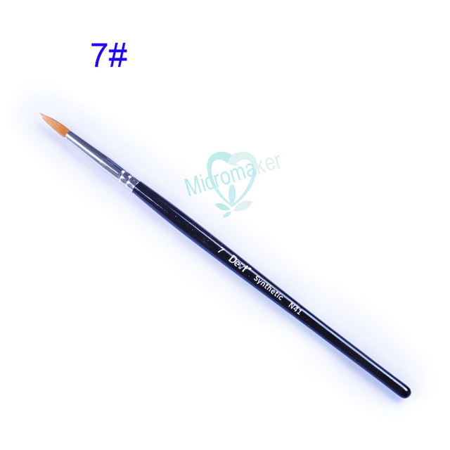 3 pièces/ensemble laboratoire dentaire Section porcelaine application stylo porcelaine brosse en céramique/stylo vitrage 0 #/F0 #/2 #/5 #/6 #/7 #/8 #