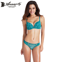 Annajolly Women Underwire Push Up Bra Set Top Women Lingerie Sexy Lace Panties And Bra Sets