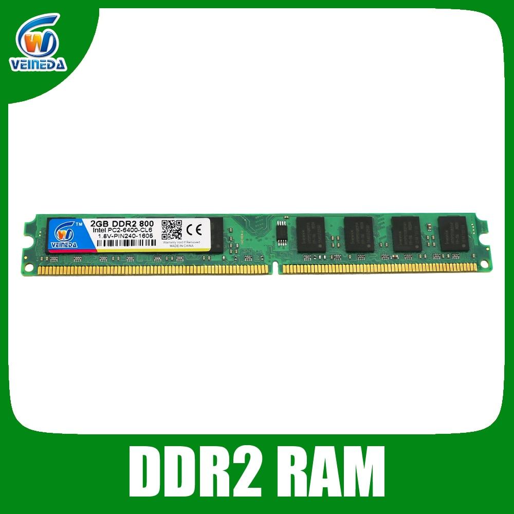 все цены на Original Veineda ram ddr2 4gb 2 gb 800 667 533 memoria ddr2 PC2 6400 800mhz ddr 2 for intel amd motherboard онлайн