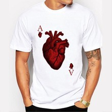 New harajuku Poker sheet t-shirt harajuku men t shirt funny t shirts streetwear off white t shirt