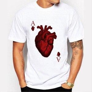 New harajuku Poker sheet t-shirt harajuku men t shirt funny t shirts streetwear off white t shirt