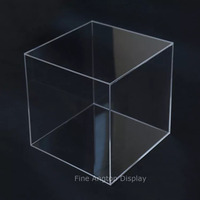 5 Sided 9x9x9inch Acrylic Display Box Case Museum Cube Box Jewelry Art Collection Pedestal Holder