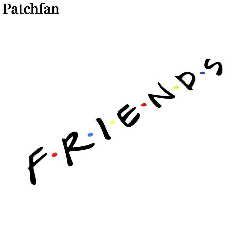 Patchfanเพื่อนทีวีแสดงDIYความร้อนสติ๊กเกอร์เหล็กบนแพทช์ทำด้วยมือเสื้อผ้าTเสื้อความร้อนA2148