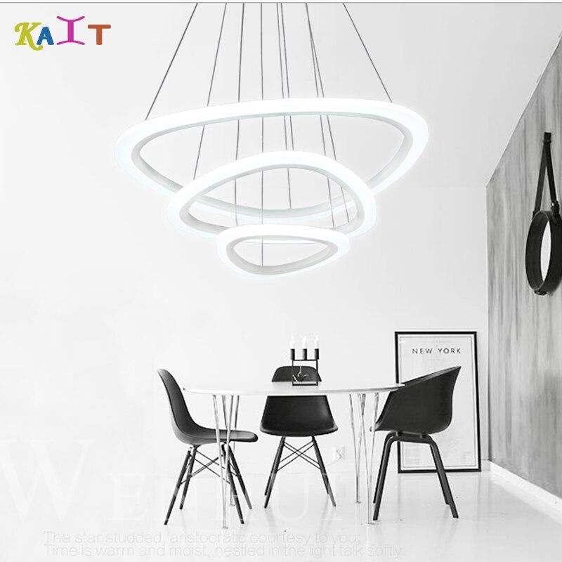 Modern függőlámpa a nappali étkezőhöz 3/2/1 körgyűrűk - Beltéri világítás