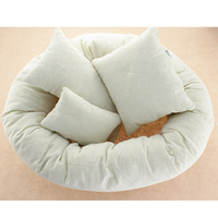 4pcs Newborn photography props white modeling pillow circle donut basket filler baby photo accessoires infant toddler shooting