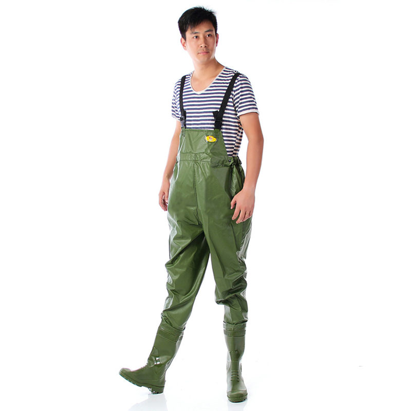 High-Jump Waist Chest Breathable Fishing Waders Thickness 0.75mm PVC Fishing Clothing Inner Storage Pocket Hunting Fish WadersHigh-Jump Waist Chest Breathable Fishing Waders Thickness 0.75mm PVC Fishing Clothing Inner Storage Pocket Hunting Fish Waders