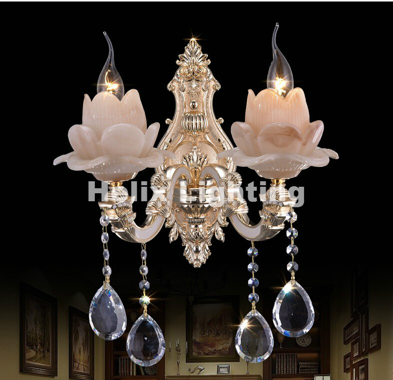 New Arrival Modern Crystal Wall Lamp Jade Glass Wall Lamp With K9 Crystal Wall Sconce Lighting 1 light and 2 light Free Shipping сигнализатор поклевки hoxwell new direction k9 r9 2 1