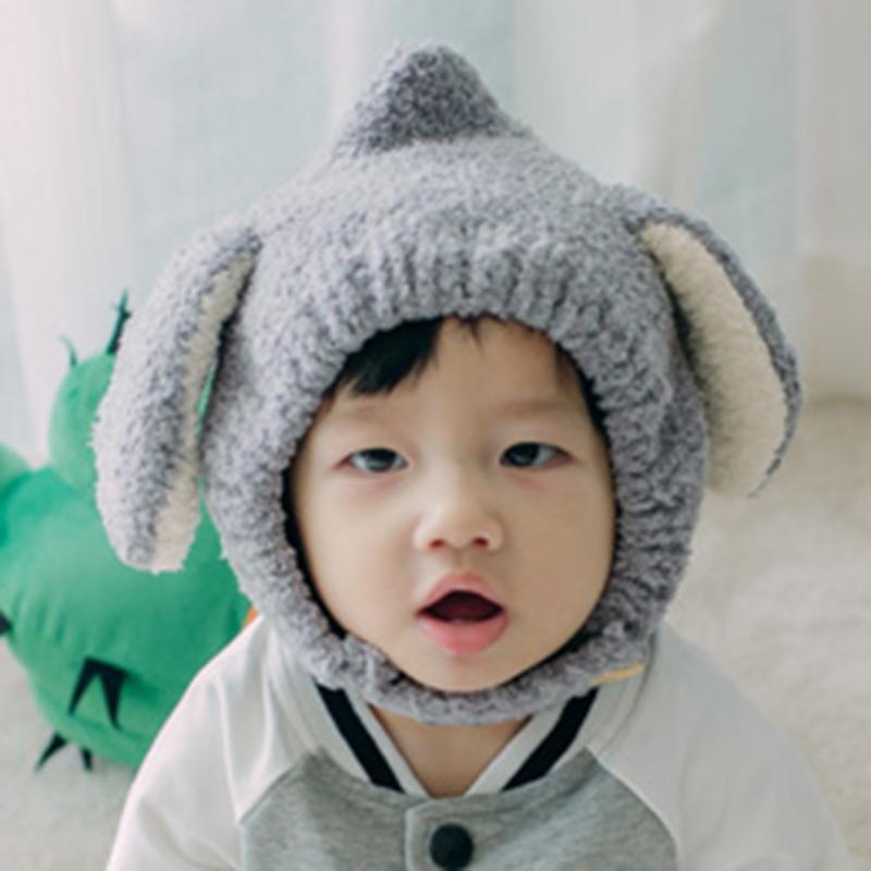 Winter Rabbit Ear Kids Baby Hats Lovely Infant Toddler Girl Boy Beanie Cap Warm Baby Hat Earflap Caps