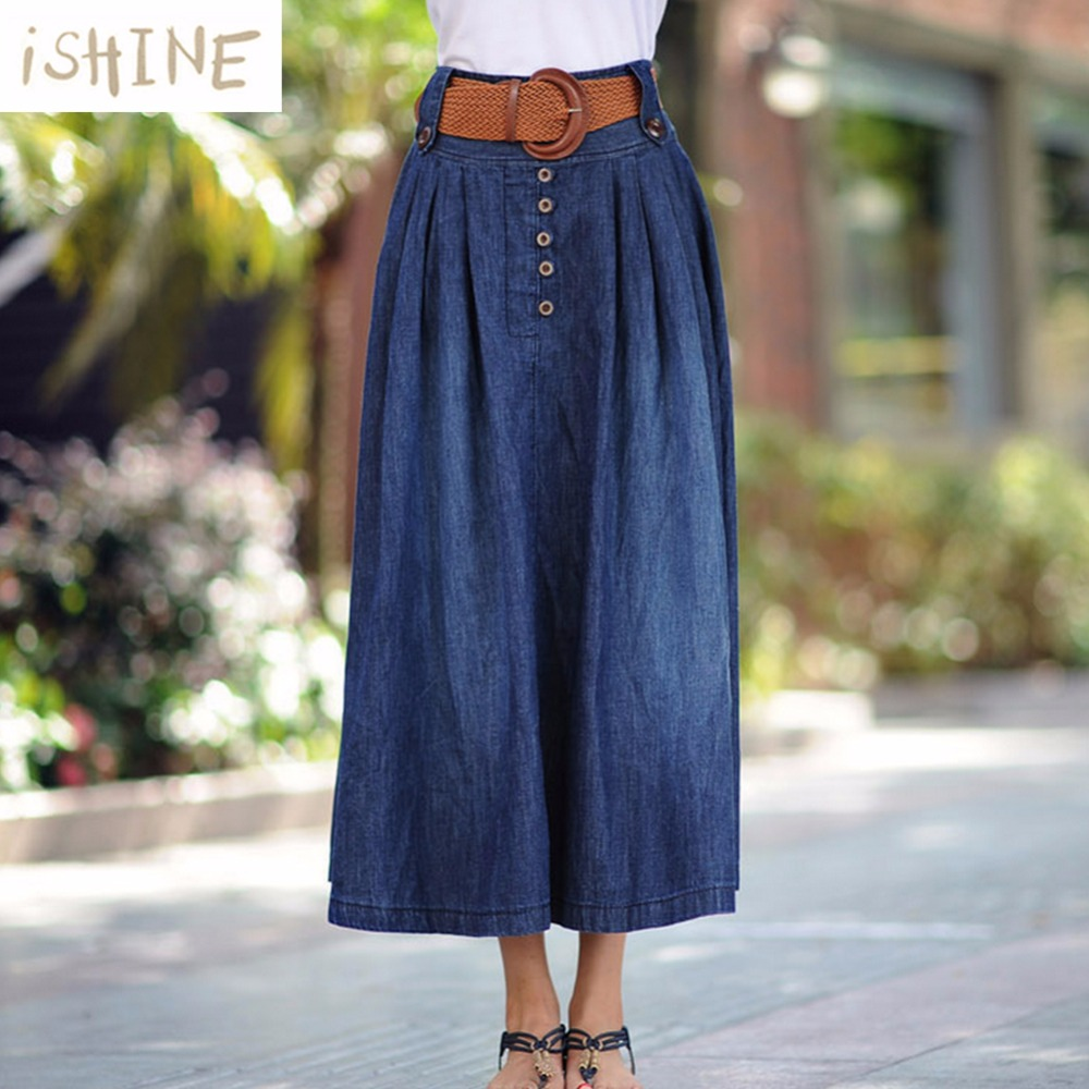 Online Buy Wholesale ankle length denim skirts from China ankle ...