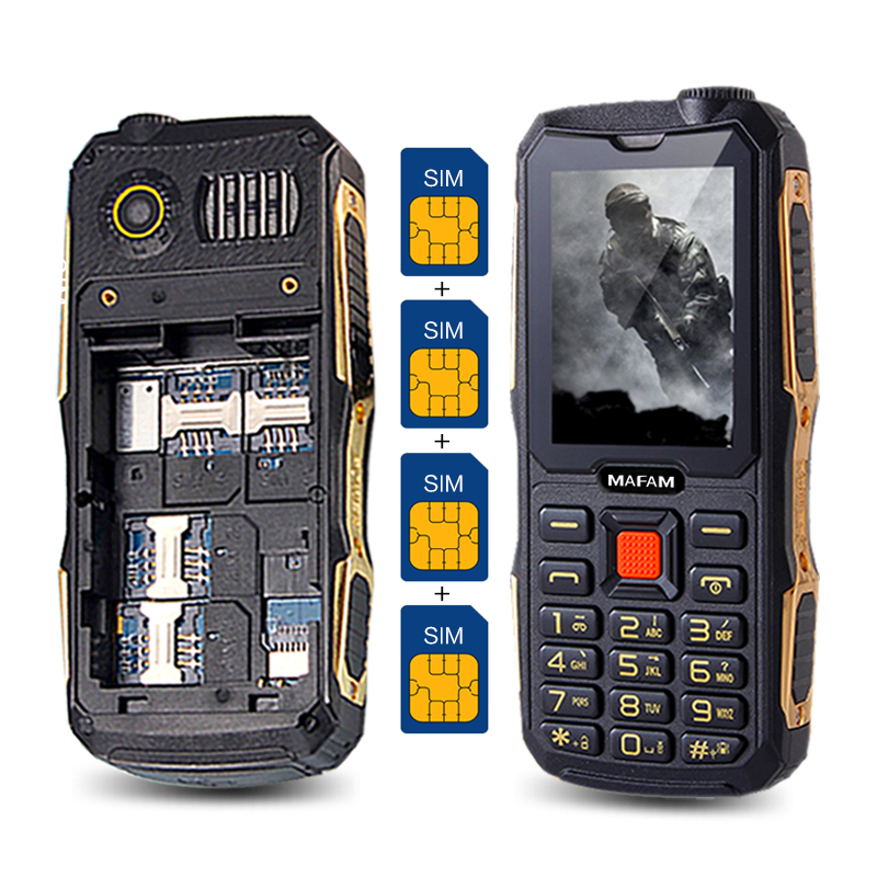 MAFAM M1 4 SIM cards 4 standby mobile phone Quad SIM four SIM cards cell mobile
