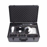 Алюминий коробка Твердый Чехол для DJI Mavic воздуха и DJI Spark Drone & DJI Google VR Glassess 3 в 1 Путешествия сумка для хранения