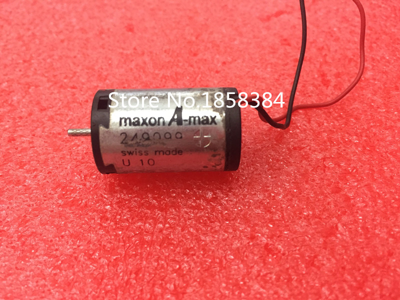 Used Maxon A-Max 16mm DC Motor Low Voltage High Speed