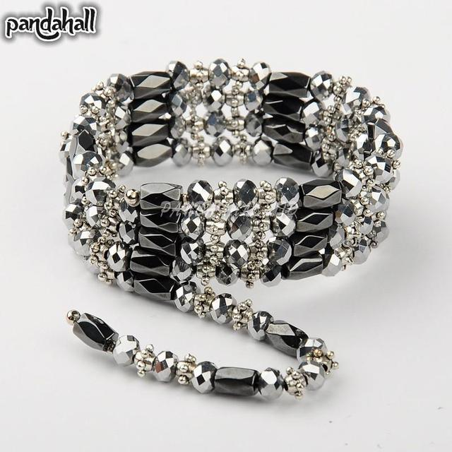 Magnetic Hemae Wrap Bracelets Necklaces With Abacus Gl Beads And Tibetan Style Silver