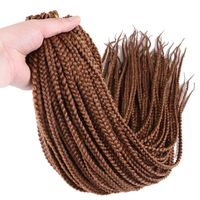 Luxury For Braiding Kanekalon Synthetic Crochet Braids 24 22strands Pack 7packs Lot Ombre 2tone Pre Loop