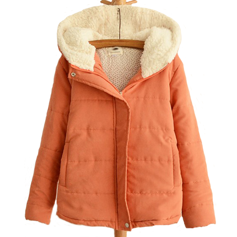 New Women Winter Jacket Female Hooded Wadded Coats Outerwear Short Casual Cashmere Thick Cotton Overcoat Jackets