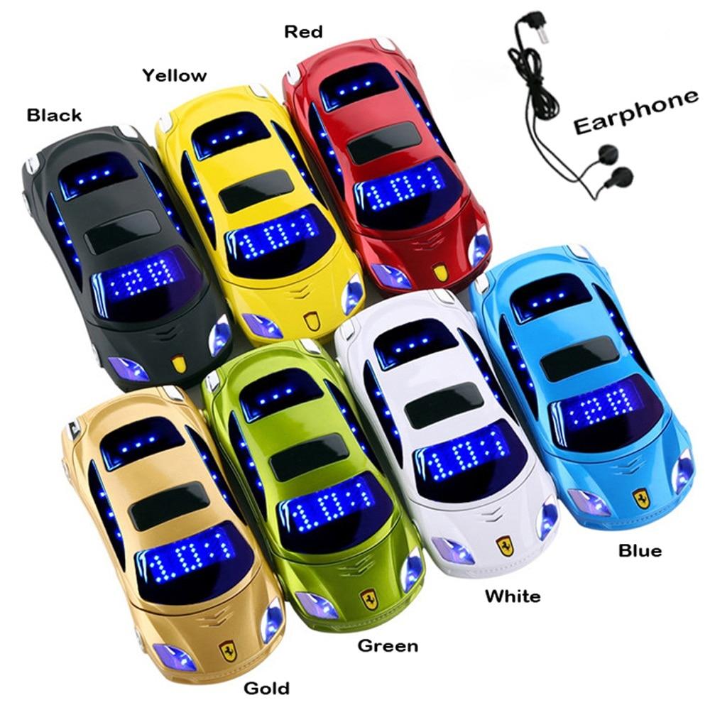 Car model flashlight dual sim cards mp3 mp4 FM radio recorder flip cellphone car model mini cell mobile phone F15