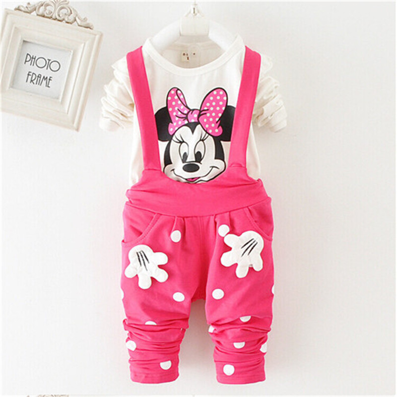2015 new arrived Baby Girls spring/autumn Suits Cotton Clothing Sets cartoon cute t-shirt + pants - Little Angels children's clothing store