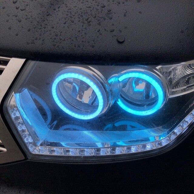 RGB Ангельские глазки хлопка светло светодио дный Multi-Цвет Автомобильные фары DRL ИК WI-FI Bluetooth Беспроводной контроллер для уаз патриот 2015 -2017