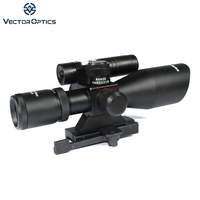 Vector Optics Sideswipe 2.5 10x40 E Compact Green Laser Gun Rifle Scope with Quick Release 20mm Weaver Mount Base