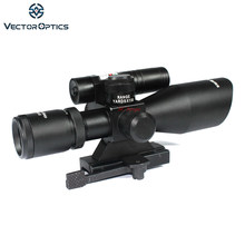 Vector Optics Sideswipe 2.5-10x40 E Compact Groene Laser Gun Rifle Scope met Quick Release 20mm weaver Mount Base(China)