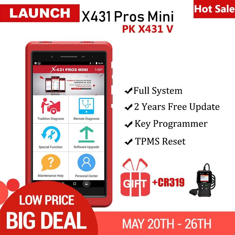 Lancer X431 Pros Mini outil de Diagnostic automatique X431 Pro mini système complet OBD2 Scanner de voiture ECU codage 2 ans mise à jour gratuite pk X431 V